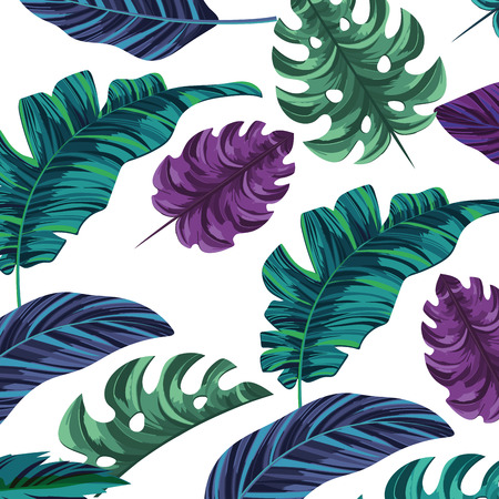 nature leafs seamless pattern cartoon vector illustration graphic design