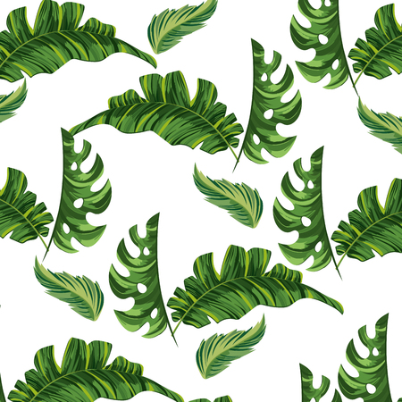 nature leafs seamless pattern cartoon vector illustration graphic design Фото со стока - 124996939