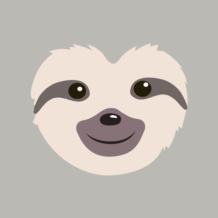 cute sloth face cartoon vector illustration graphic design Reklamní fotografie - 117472161