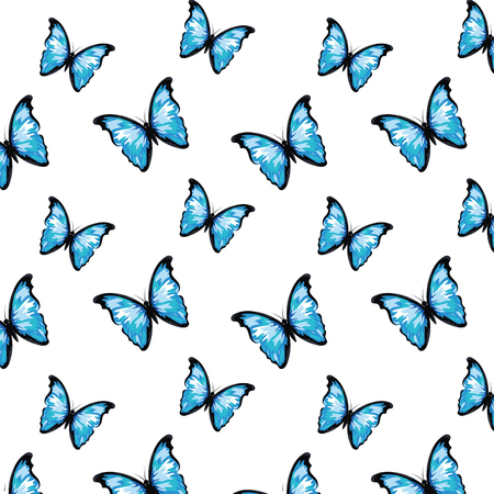 beautiful butterfly seamless pattern cartoon vector illustration graphic design