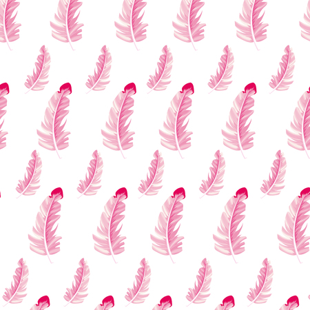 plume feather seamless pattern cartoon vector illustration graphic design