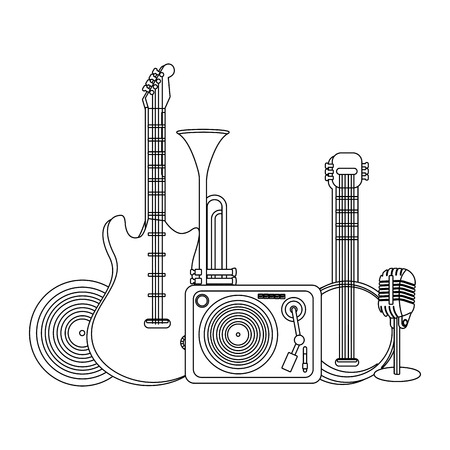 music elements cartoon vector illustration graphic design