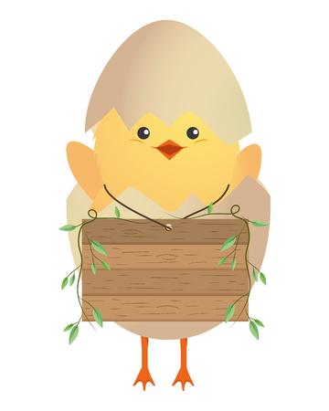 cute chicken with eggshell cartoon vector illustration graphic design