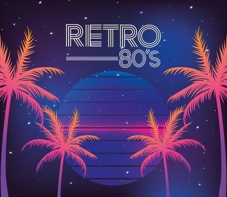 80s retro style word