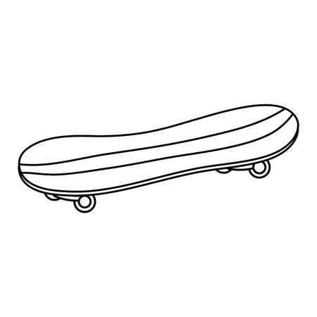skate board isolated icon vector illustration design Illustration