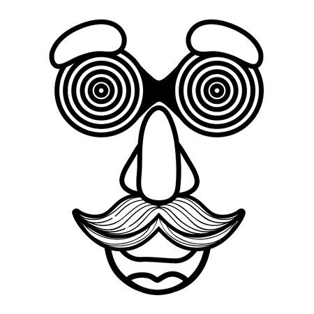 fools day custome face accessories vector illustration design Иллюстрация