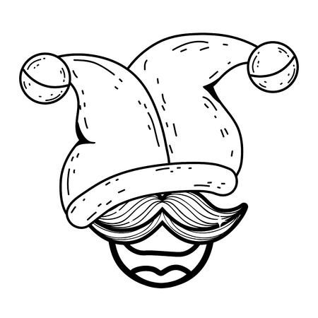 fools day custome face accessories vector illustration design  イラスト・ベクター素材