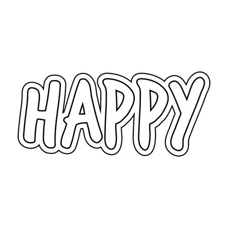 happy word isolated icon vector illustration design Archivio Fotografico - 124900515