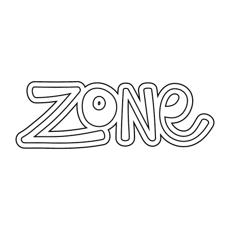 zone word isolated icon vector illustration design