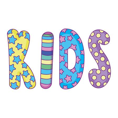 cute kids word icon vector illustration design Archivio Fotografico - 124900688