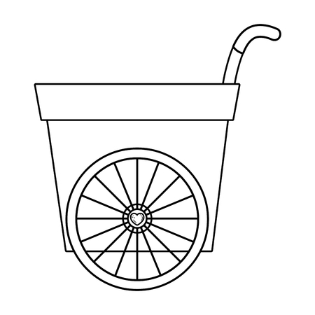 cute wheelbarrow isolated icon vector illustration design Ilustração