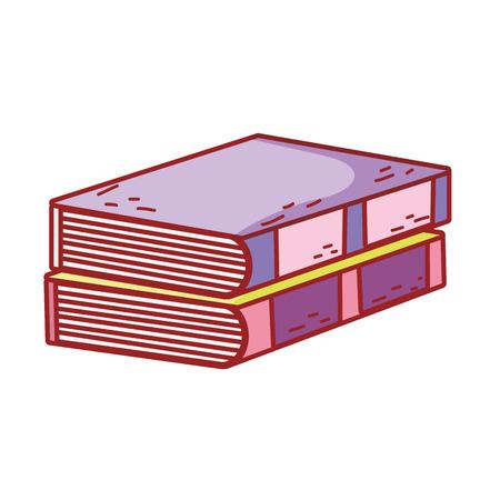 pile text books day celebration vector illustration design Çizim