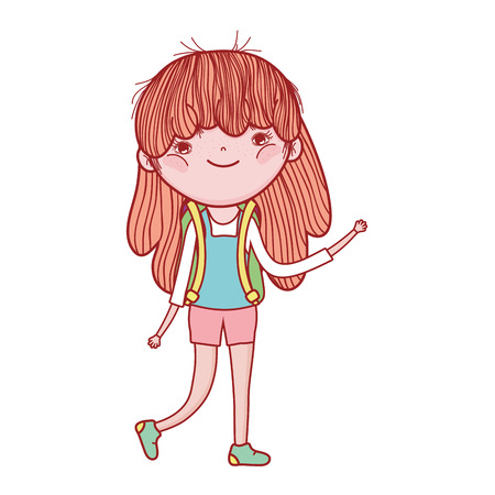 little girl cute character vector illustration design Reklamní fotografie - 124904525