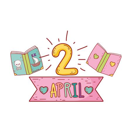 text books day celebration vector illustration design