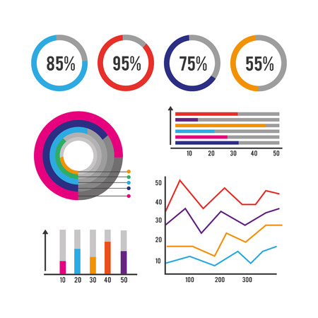 infographic business finance data information vector illustration