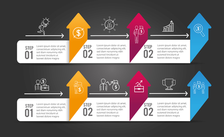 business infographic strategy process success vector illustration