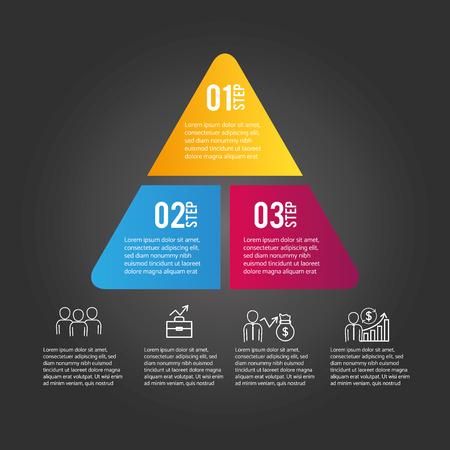 business infographic strategy data information vector illustration Illustration
