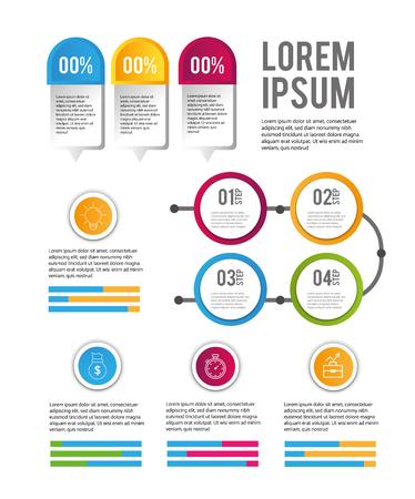 infographic business data sucess progress vector illustration Illustration