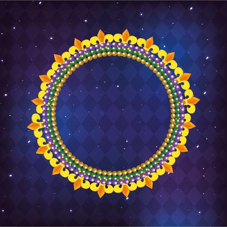 circle with fleur de lis