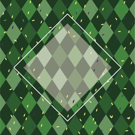 Motif de fond arlequin en forme de diamant et de confettis vector illustration graphic design Vecteurs