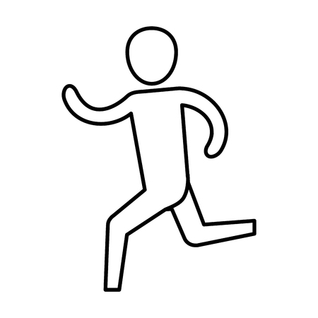 man pictogram running cartoon vector illustration graphic design Illusztráció