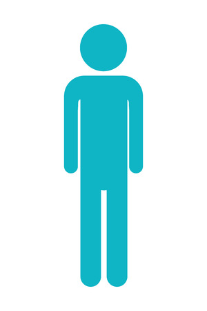 man pictogram cartoon vector illustration graphic design