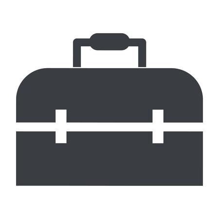 suitcase icon cartoon vector illustration graphic design
