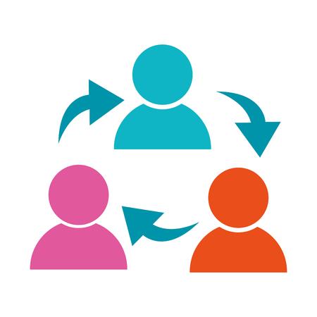 business social network people pictogram cartoon vector illustration graphic design Illustration