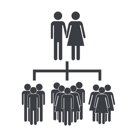 business social network people pictogram cartoon vector illustration graphic design Illustration