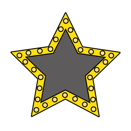 Stars lights sign symbol vector illustration graphic design