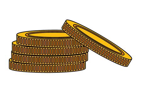Coins stacked money cartoon vector illustration graphic design Foto de archivo - 124831958