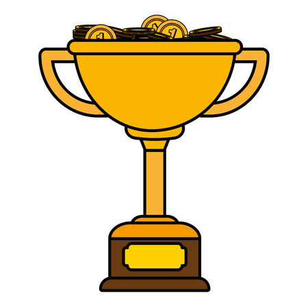 Trophy cup with medals vector illustration graphic design Foto de archivo - 124831959