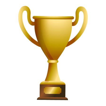 Nagroda pucharu trofeum na drewniane pudełko projekt graficzny ilustracji wektorowych projekt graficzny ilustracji wektorowych Ilustracje wektorowe