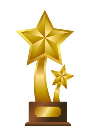 Trophy cup star shape symbol vector illustration graphic design vector illustration graphic design Foto de archivo - 124831975