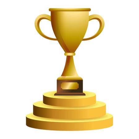 Trophy cup in podium vector illustration graphic design vector illustration graphic design Foto de archivo - 124831981