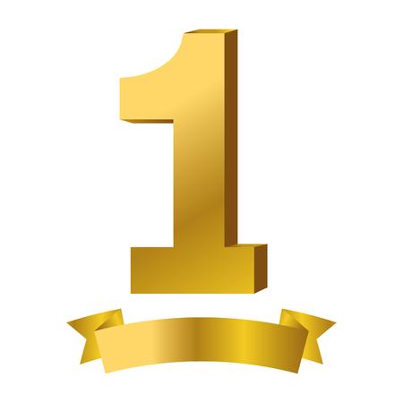 First place award symbol ribbon banner vector illustration graphic design vector illustration graphic design Foto de archivo - 124831983