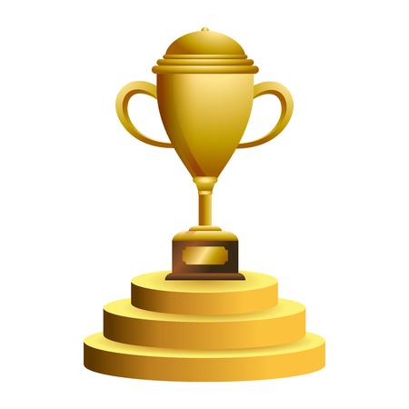 Trophy cup on podium symbol vector illustration graphic design vector illustration graphic design Foto de archivo - 124831991