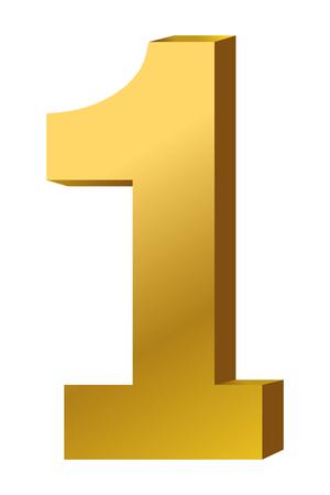 First place award gold symbol vector illustration graphic design vector illustration graphic design Foto de archivo - 124831992
