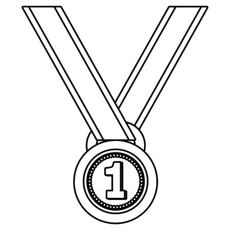 First place award medal vector illustration graphic design vector illustration graphic design Foto de archivo - 124832016