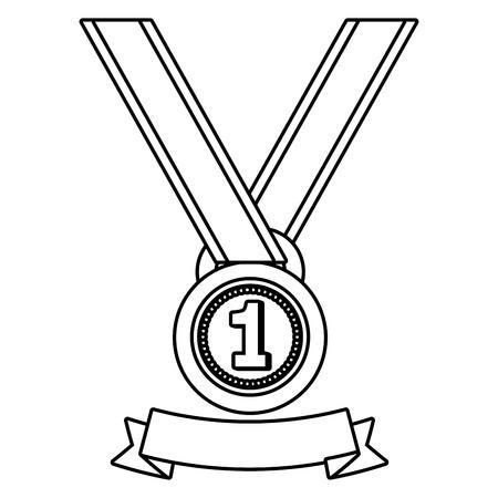 First place award medal ribbon banner vector illustration graphic design vector illustration graphic design Foto de archivo - 124832021