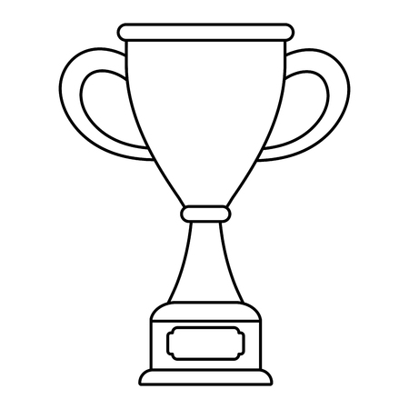 Trophy cup award on wooden box vector illustration graphic design vector illustration graphic design Foto de archivo - 124832022