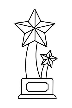 Trophy cup star shape symbol vector illustration graphic design vector illustration graphic design Foto de archivo - 124832549