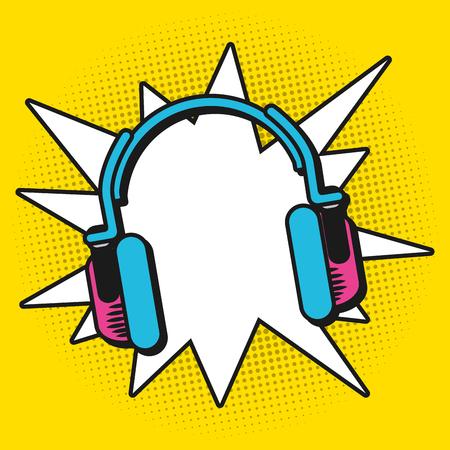 Progettazione grafica dell'illustrazione di vettore dei fumetti variopinti di Pop art