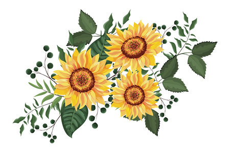 Lente bloemen Decoratief frame met bloemen bladeren vector illustratie grafisch ontwerp