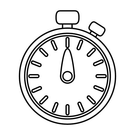 Diseño gráfico del ejemplo del vector de la historieta del cronómetro del tiempo