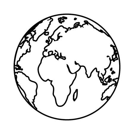 progettazione grafica dell'illustrazione di vettore del fumetto della mappa del mondo Vettoriali