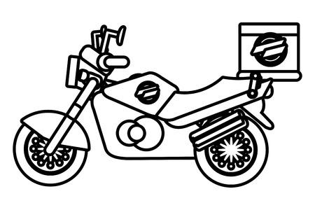 delivery service motorycle cartoon vector illustration graphic design Standard-Bild - 124832656