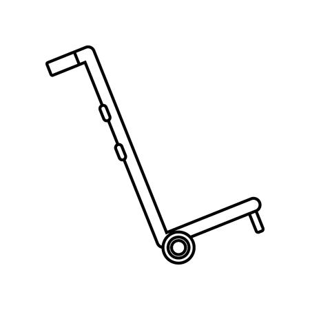 logistic handcart cartoon vector illustration graphic design Standard-Bild - 124832660