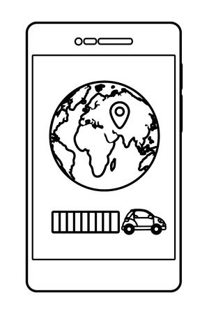 delivery service smartphone shopping cartoon vector illustration graphic design Standard-Bild - 124832666