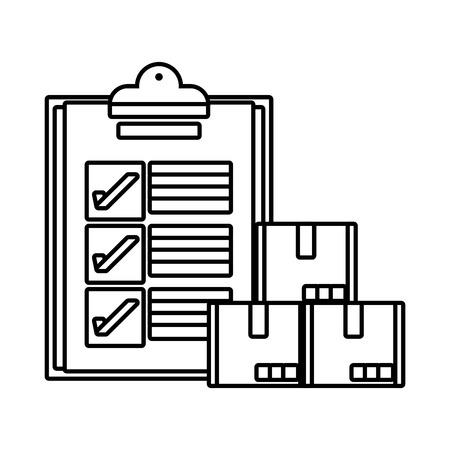 delivery service documents cartoon vector illustration graphic design Standard-Bild - 124832670